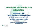 Principles of sample size calculation