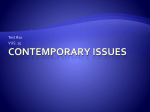 Test 10 Contemporary Issues