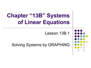 "Chapter ""13B"" Systems of Linear Equations"
