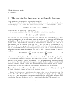 1 The convolution inverse of an arithmetic function