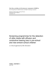 Screening programmes for the detection of otitis media with effusion