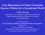 Four Dimensions of China`s Economic Success