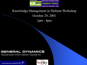 Knowledge Management in Defense