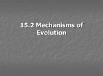 15.2 Mechanisms of Evolution