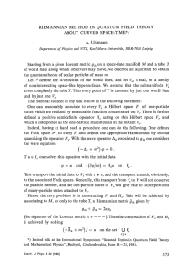 Riemannian method in quantum field theory about curved space-time