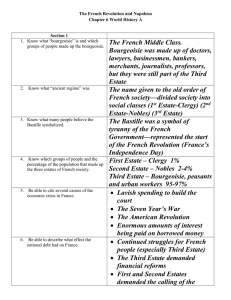 The French Revolution and Napoleon Chapter 6 World History A