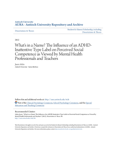 What`s in a Name? The Influence of an ADHD