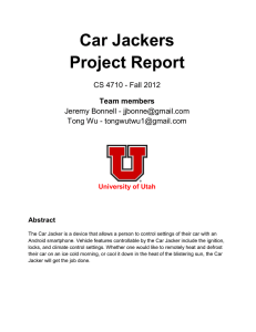 project final report - The College of Engineering at the University of