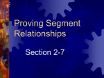 2.7 Proving Segment Relationships