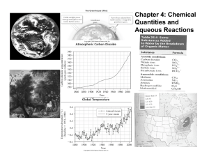 Chapter 4: Chemical Quantities and Aqueous Reactions