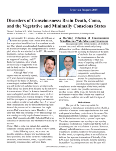 Disorders of Consciousness: Brain Death, Coma