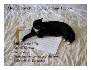 Atomic Structure and Quantum Theory