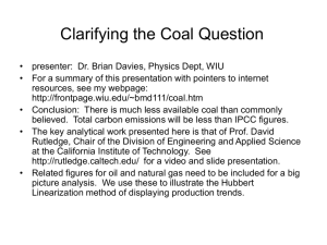 Clarifying the Coal Question