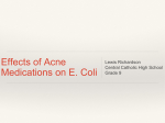 Richardson CCHS Effects of Acne Medications on E. coli