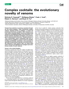 Complex cocktails: the evolutionary novelty of venoms