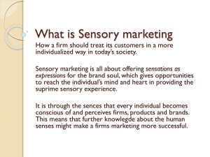 What is Sensory marketing