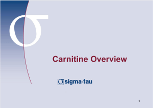 Carnitine Overview