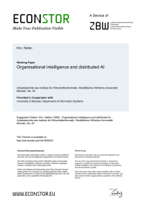 Organisational Intelligence and Distributed AI