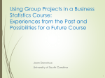 Group Projects in Business Statistics