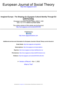 European Journal of Social Theory