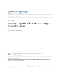 Humanity`s Capability of Transcendence through Artificial Intelligence