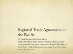 Regional Trade Agreements in the Pacific