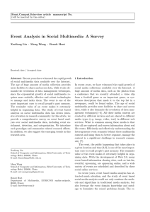 Event Analysis in Social Multimedia: A Survey