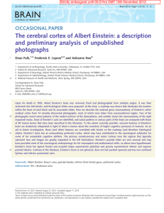 The cerebral cortex of Albert Einstein: a description and preliminary