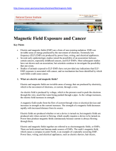 Magnetic Field Exposure and Cancer