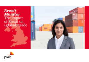 Brexit Monitor The impact of Brexit on (global) trade