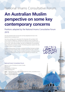 An Australian Muslim perspective on some key contemporary