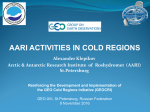 AARI Activities in Cold Regions