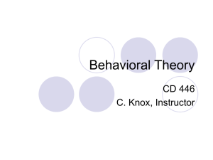 Behavioral Theory rev 2012