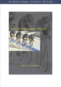 Analytical Mechanics, Seventh Edition