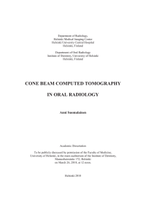 Cone beam computed tomography in oral radiology