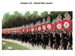 Chapter 24 – World War Looms Section One
