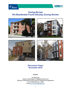 Zoning By-law R4 (Residential Fourth Density) Zoning