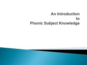 Phonics Presentation - Kimpton C Of E Primary School