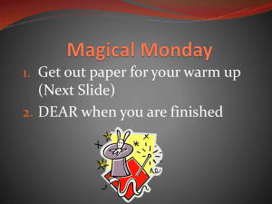 Magical Monday - teresajpeterson