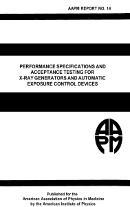 performance specifications and acceptance testing for x-ray