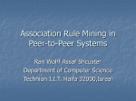 Association Rule Mining in Peer-to