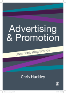 ADVERTISING Advertising and Promotion Communicating Brands