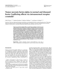 Tumor necrosis factor-alpha in normal and diseased brain