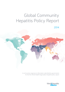 Global Community Hepatitis Policy Report