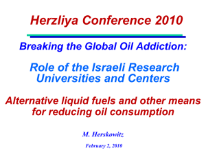 Breaking the Global Oil Addiction
