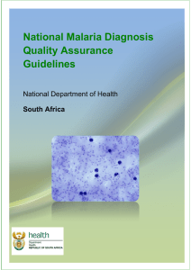 National Malaria Diagnosis Quality Assurance Guidelines