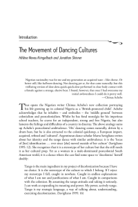 The Movement of Dancing Cultures