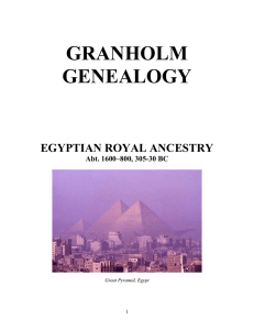 Egyptian Royal Ancestry
