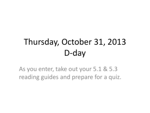 Thursday, October 31, 2013 D-day