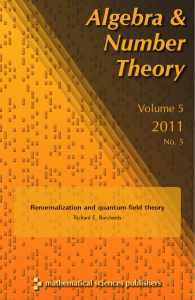 Renormalization and quantum field theory